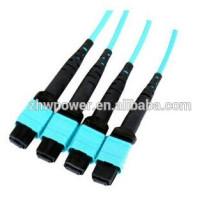 Cabo de remendo da fibra óptica de MPO, cabo de remendo da fibra óptica de 3m para LAN Telecomunicações