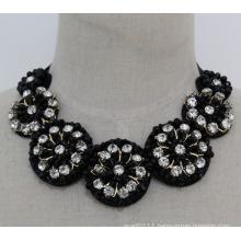Ladies Fashion Charm Jewelry Crystal Chunky Choker Necklace (JE0132)