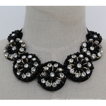 Moda feminina charme jóias de cristal colar gargantilha robusto (jE0132)
