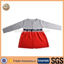 Pull molletonné en mousseline de soie tricoté mongol pour enfants