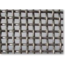 Rede de arame frisado com furos quadrados