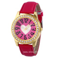 Rhinestone Heart Quartz Watch for Women