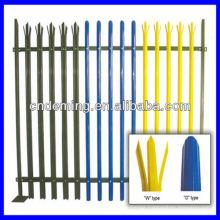 European style steel palisade fence