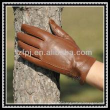 Europe and America brown deerskin glove for lady
