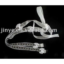 Fashion bling bling crystal jewelred bra strap with bow decoration