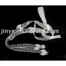Moda bling bling crystal pulseira de sutiã de cristal com decoração de arco