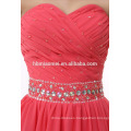 China OEM Latest Design Women Mini Chiffon Dress Ladies Watermelon Red Gown Evening Dress
