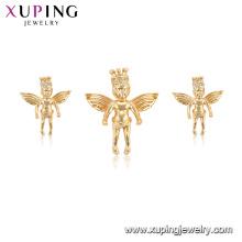 65008 xuping plus nouveau mode aile aile imitation pendentif boucle d'oreille ensemble de bijoux