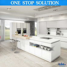 Minimalist Style White Color Kitchen Cabinets