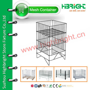folding wire mesh promotional ball display stand