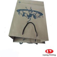 Bolsa de papel marrón de Kraft modificada para requisitos particulares con las manijas de los PP