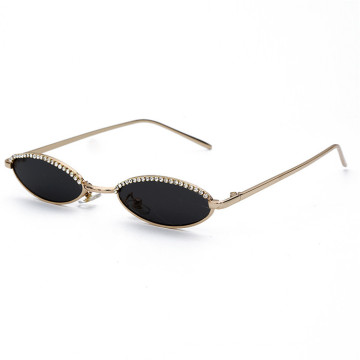 Sexy Retro Oval Diamond Sunglasses Women 2019 New Fashion Luxury Brand Sunglasses
