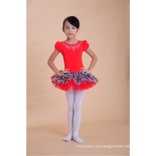 vestido coreano del tutú del vestido de la danza de las muchachas de los bebés del estilo coreano