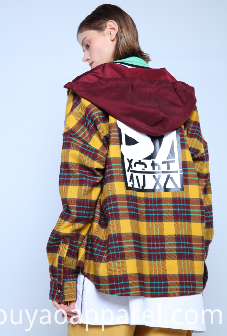 OVERSHIRT WITH CONTRASTING HOOD