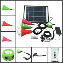 Kit de 2014 mejor vendedor iluminación solar solar hogar iluminación con bombillas led