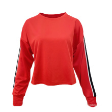 New Customized Sport Casual Soft Crew Neck Plain Dyed Polyester Cotton T-Shirt For Women