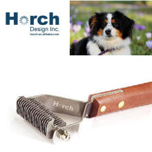 Hot Selling Wood Handle Pet Dog Stripping Comb