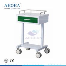 AG-GS007 Simple medication crash mobile nurse treatment used hospital 1 drawer cart
