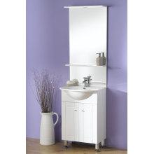 El armario blanco de la vanidad del cuarto de baño del piso de los 60cm (OLW-04)