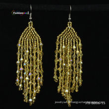 2013 nouvelle crystal fashion gratuit graine perle dessins de boucle d'oreille