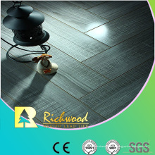 Plancher en stratifié à rainures en V résistant à l'eau de chêne miroir de 12,3 mm