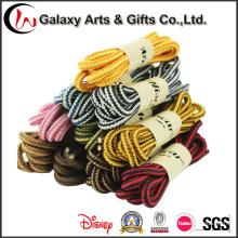 Многоцветный 140см круглая веревка шнурки шнурки для кроссовки
