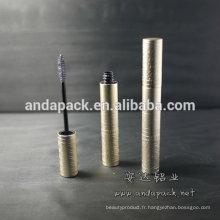 Emboss aluminium vide tube de mascara
