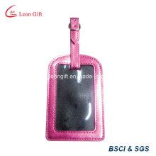Etiqueta de equipaje de cuero de rectángulo PU barata