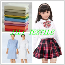 Tc 65/35 blanqueado y teñido de tela de camisas / uniforme escolar / uniforme médico de tela