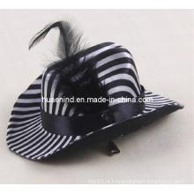 Chapéu de couro preto do animal de estimação boné