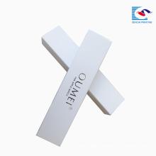 sencai free sample customized white art paper watch wrist rectangle paper box EVA insert