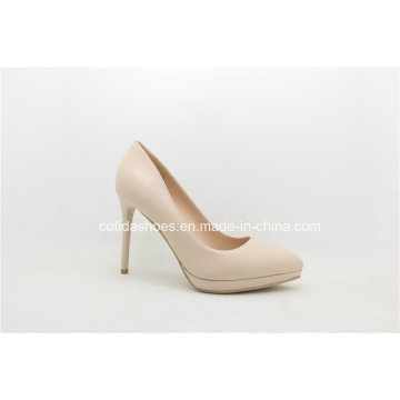 New Europe Fashion Comfort Plaform High Heels Leather Shoes