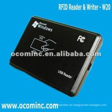 W20 --- Lector y escritor de RFID de interfaz USB de fácil uso