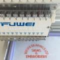 FUWEI 2015 15 cores Preço de máquina de bordar computadorizado de cabeça única de alta velocidade para vestuário de calçado bordado de sapatos
