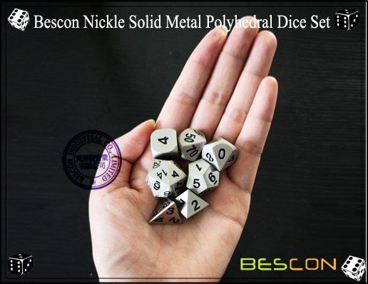 Bescon Nickle Solid Metal Polyhedral Dice Set-6