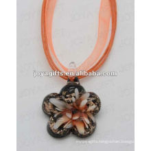 2014 new style Lampwork Glass Pendant Necklace Lampwork glass Necklace earring drop pendant with wax cord