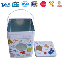 Metal Tins Wholesale with Handle and Plastic Window Jy-Wd-2015112523