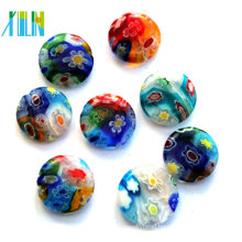 cabochons back oblate glass millefiori beads wholesale
