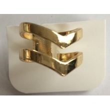 Wholesale Fashion Simple Metal Gold Plated Ring