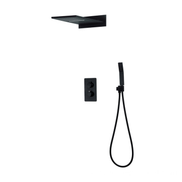 Thermostatic Two Function Black Shower Faucet
