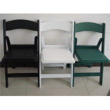White and Black Padded Garden Plastic Chair for Weddings