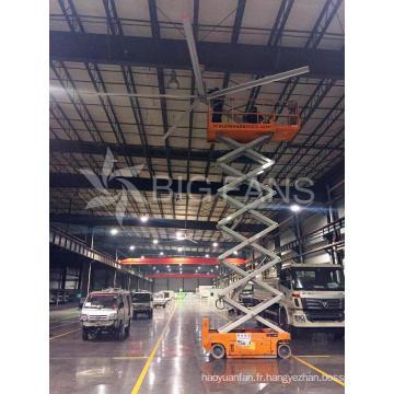 6,2 m (20,4 FT) diamètre lames concert grand ventilateur de plafond