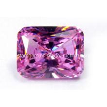 Rose Pink Radiant Cut Zirconia Cúbica Piedra preciosa
