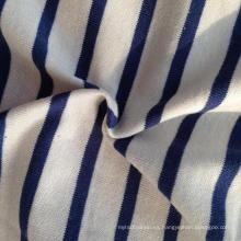 55% Cangrejo 45% algodón orgánico Stripe Single Jersey