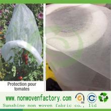 Tissu non-tissé de Spunbond de pp pour le sac biodégradable de semis de plantation écologique
