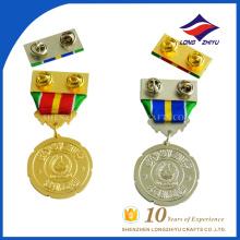 Завод цена золото серебро чести индивидуальные медали для награждения