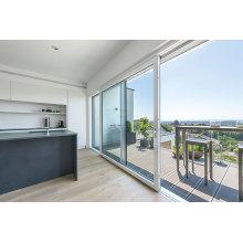 Porte coulissante en aluminium de patio pour le fluorocarbone de balcon