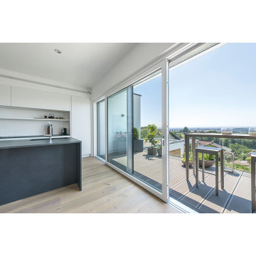 Patio Aluminium Sliding Door For Balcony Fluorocarbon
