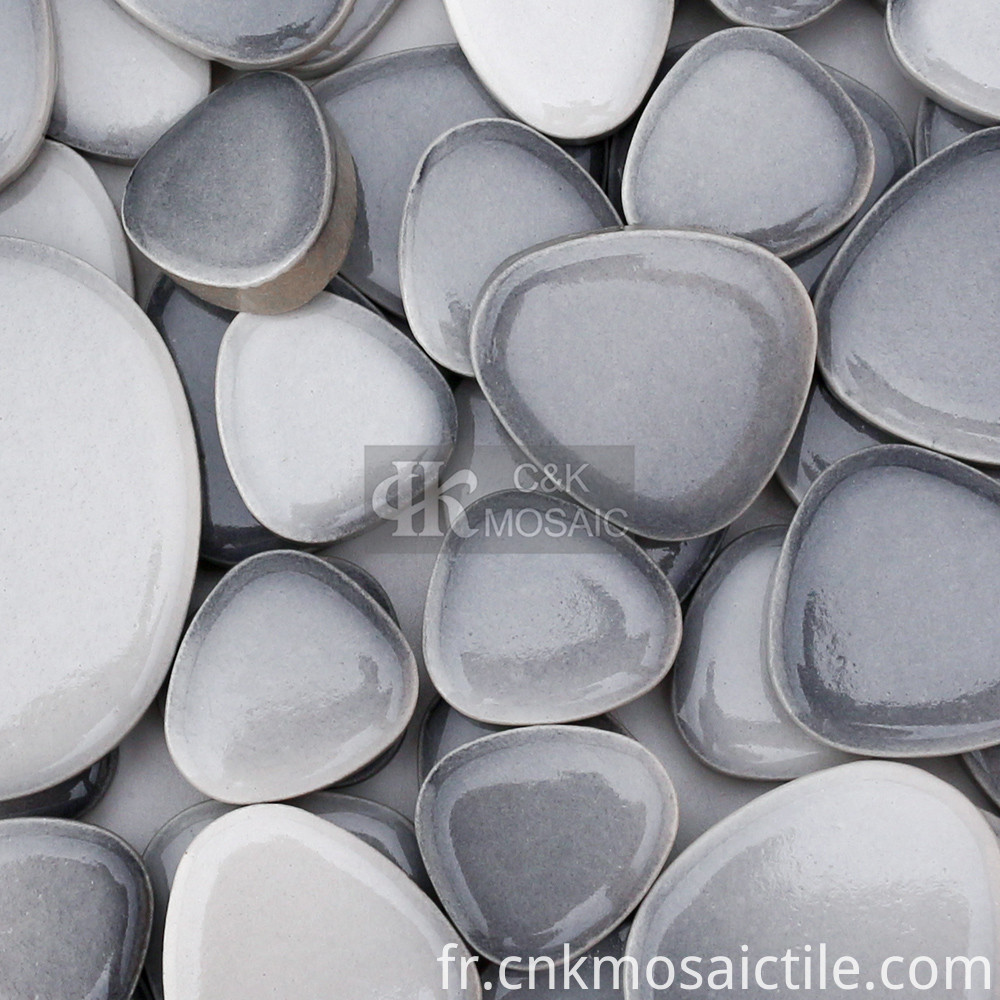 Pebble Ceramic Mosaic Tile for Garden