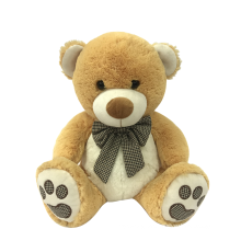 Brown Teddy Bear With Ribbon Bow